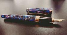 HERO 2016 Celluloid Fountain Pen Blue fine  nib