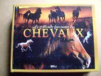 Livre Le monde fascinant des chevaux races robes anatomie élevage 438 pages /Z81