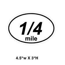 1/4 mile Drag Racing window sticker decal NHRA IHRA Street Racing