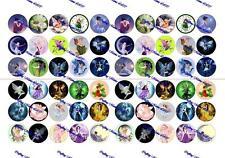"""60 Precut 1"""" FAIRIES Bottle cap Images Set A"""