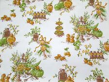 Mid Cent Fruit Vegetable Honey Jam Marmalade White Orange Green Brown Wallpaper