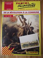 Panini Decouvertes 1991 Histoire n° 2.08 DE LA REVOLUTION FRANCAISE A LA COMMUNE