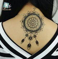 Black Lace Owl Henna Temporary Tattoos Flash Women Arm Body art Sticker UK