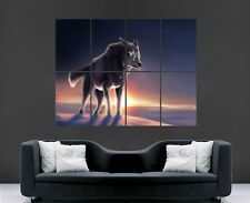 WOLF POSTER WILD NATURE SUNSET MAGICAL ART LARGE IMAGE GIANT PRINT PICTURE
