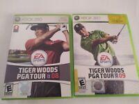 Tiger Woods PGA Tour Lot 08 09 XBOX 360 No Manuals 2008 2009 Golf Video Game