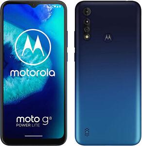 New Motorola Moto G8 Power Lite Blue 64GB 5000mAh Android 9.0 Unlocked Sim Free