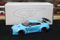 1:18 GT Spirit ZM116 Nissan R35 GTR LB Performance (Liberty Walk). Baby Blue
