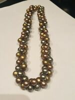 "Vintage Art Deco 20's Flapper Mulit-Coloured Cluster Pearl  17""Choker/Necklace"