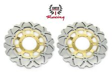 Front Brake Disc Rotors Set For Honda CBR 600 RR 2003-2019 Wave Rotors Gold