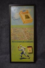 "Old Gold Cigarettes Baseball Poster with Metal Tin ""Not A Cough In a Carload"""
