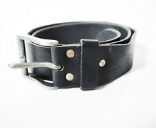 Vintage Leather Belt Black Size 32