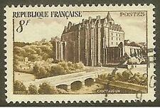 "FRANCE TIMBRE STAMP 873 "" CHATEAU DE CHATEAUDUN "" OBLITERE TB"