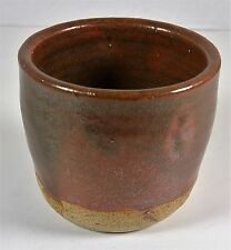 """Handmade Pottery Candle Holder or Tea Cup 3.165"""" tall 2.5"""" across Signed Piece"""