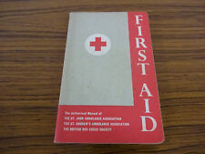 1965 2nd Edition Softback: First Aid Manual for British Red Cross Society