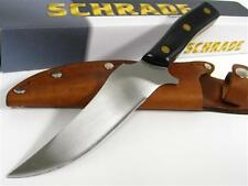 SCHRADE OLD TIMER Deerslayer Straight FIXED Blade Knife + Sheath! 15OT