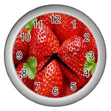 STRAWBERRIES STRAWBERRY KITCHEN BEDROOM WALL CLOCK ****NEW ITEM***
