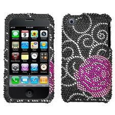 Rosey Crystal Diamond BLING Hard Case Phone Cover for Apple iPhone 3G 3GS