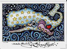 Starry Starry Sperm Whale Jamie Hayes Art Print Signed 16x20 Save The Whale