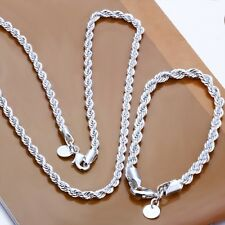 Wholesale Hot Fashion Gift 925silver Jewelry Set Necklace Bracelet