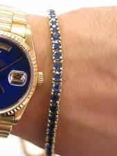 Fine Gem Sapphire Tennis Bracelet Yellow Gold 14KT 8.35CT