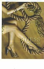 PUBLICITE ADVERTISING    2006  GUESS chaussures leopard