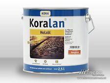 (€14,00/l) Koralan Öl 2,5ltr. Cumaru, Garapa, Bilinga, Massararanduba, Bangkirai