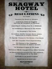 """(432) OLD WEST HOTEL SKAGWAY RULES GOLD RUSH POSTER 11""""x17"""""""