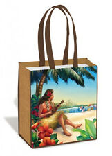 Hawaiian Eco Tote Shopping Bags Hula Girl Hawaii Farms Market Bag Islands NIB