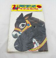 "Vintage Donkey Party Game ""Pin the Tail on the Donkey"" JAPAN NOS GUC"