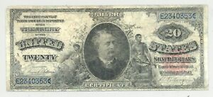 $20 Series 1891 Daniel Manning Silver Certificate Friedberg 318 rare type!