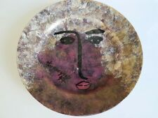 Céramique signée.Signed ceramic  assiette visage