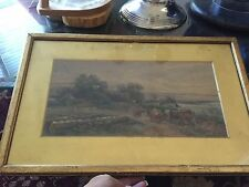 Tom Rowden 1890 - Dartmoor Landscape Watercolor Listed Exeter English Artist