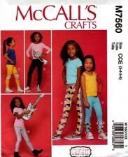 McCalls Sewing Pattern 7560 M7560 Girls Leggings Size 3-4-5-6 NEW Lauralee