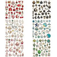 31 Stück Mixed Emaille Charms Anhänger für Schmuckherstellung Handwerksfunde*