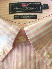 Vineyard Vines Shirt Button Down Mens L Slim Fit Stripe Oxford Whale NWT $89.99