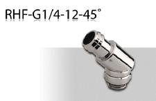 """Enzotech 45 Degree Rotary Barb (RHF-G14-12-45) - 1/2"""" ID Tube - Metallic Silver"""