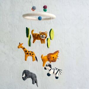 Hand Crafted  Jungle  Animals Baby Mobile Room Decor