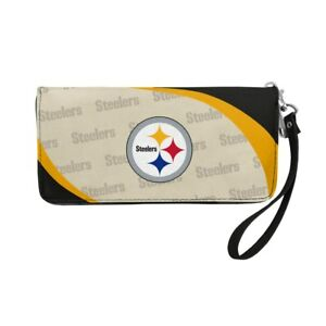 Pittsburgh Steelers Ladies Women's Curved Zipped Wallet Organizer Shell NWT
