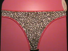 Victoria's Secret INCREDIBLE thong M nylon panties animal black pink beige NWT