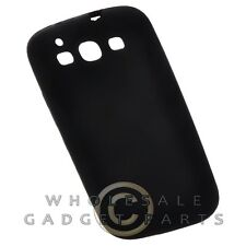 Samsung i9300 Galaxy S3 Rubber Skin Case Solid Black Cover Shell Protector Guard