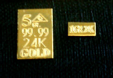 ACB GOLD au 5Grain and 1GRAIN 24k 99.99 fine Gold Bars