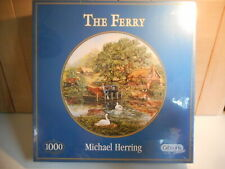 GIBSONS MICHAEL HERRING THE FERRY 1000 PIECE JIGSAW PUZZLE NEW