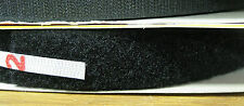 1 Roll 25mm x 24m  loop TAPE only, black sew on