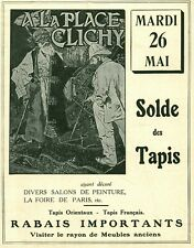 Publicité ancienne 26 Mai des tapis et meubles place Clichy 1925 issue magazine