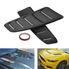 2x Universal Black ABS Car Hood Air Intake Scoop Decor Bonnet Decoration Sticker
