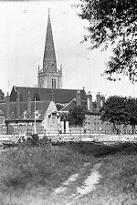 1910s ABINGDON #5 St Helens Church Antique Photographic Glass Negative