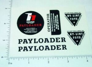 Nylint Hough Payloader Const Vehicle Stickers    NY-025