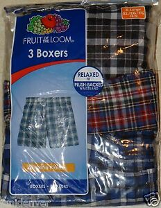 Boys Fruit of The Loom Boxer Shorts-3 Pack: S-M-L-XL