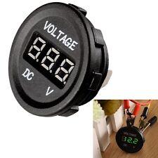 HS Waterproof 12V Car Motorcycle Green LED DC Digital Display Voltmeter Meter
