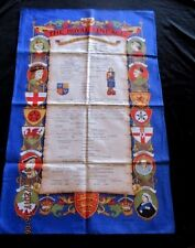 SOUVENIR TEA-TOWEL - THE ROYAL LINAGE - FROM ALFRED THE GREAT - ELIZABETH II